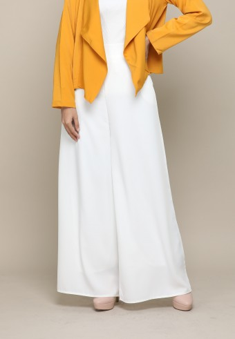 SILK PALAZZO PANT IN WHITE