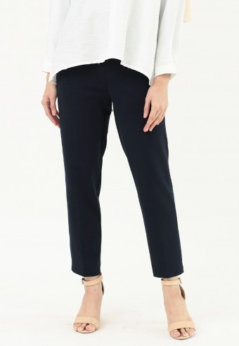 PLAIN FORMAL PANT IN NAVY BLUE