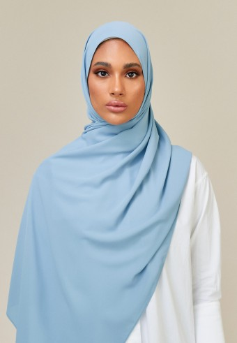Meyna long shawl in aqua
