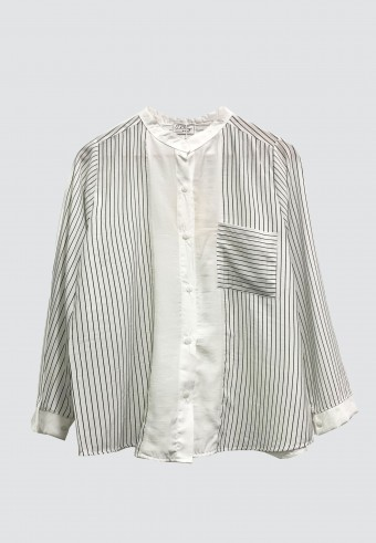 KOREAN STYLE STRIPED TOP IN WHITE