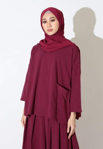 COMFIEE TOP IN MAROON