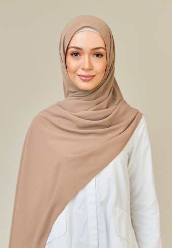 Meyna long shawl in bread