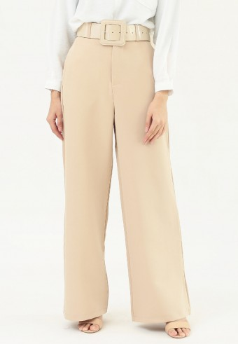 HIGH WAIST LOOSE PANT IN CREAM