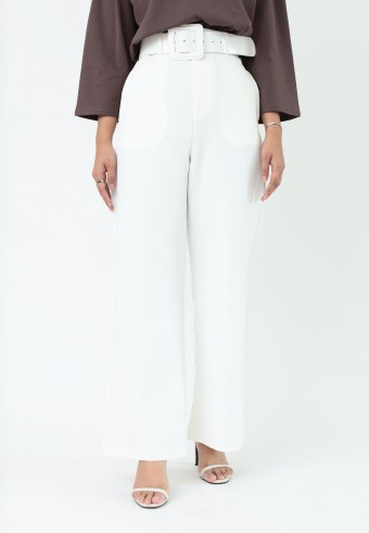 HIGH WAIST LOOSE PANT IN WHITE
