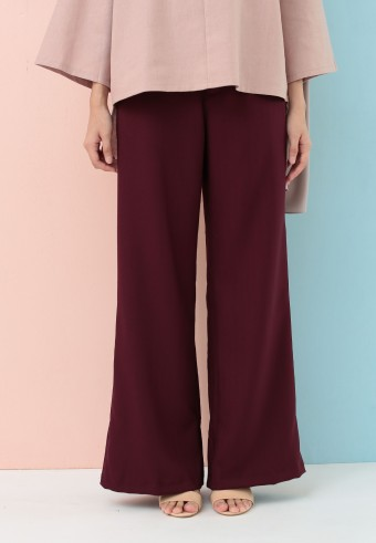 BOOTCUT COTTON PANT IN PLUMP
