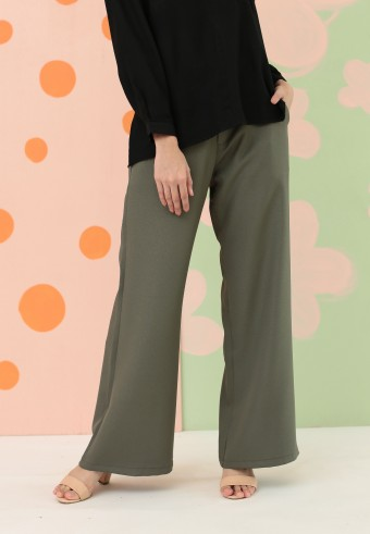 BOOTCUT PANT IN ARMY GREEN