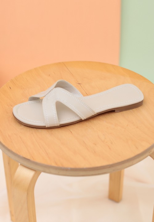 CAMY SLIDE SANDAL IN NUDE