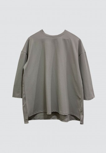 SIMPLE PLAIN TOP IN GREY