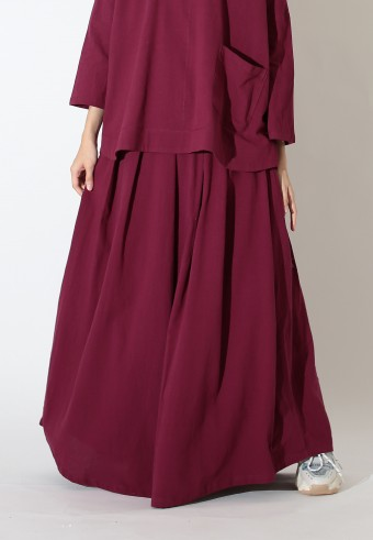FLOWIEE SKIRT IN MAROON