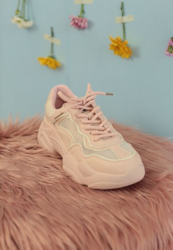 MELLOW CHUNKY SNEAKERS IN PINK (FREE SOCKS FOR EARLY BIRDS)