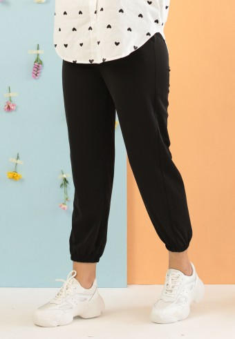 SILK JOGGER PANT IN BLACK