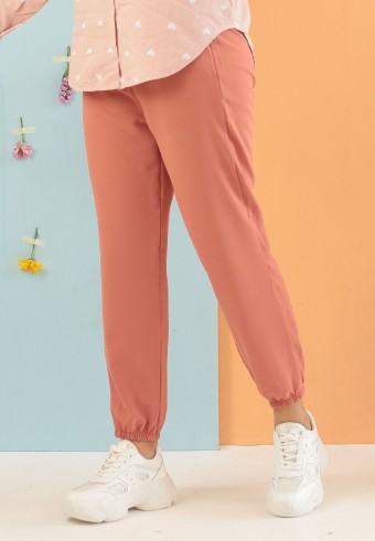 SILK JOGGER PANT IN DUSTY PINK