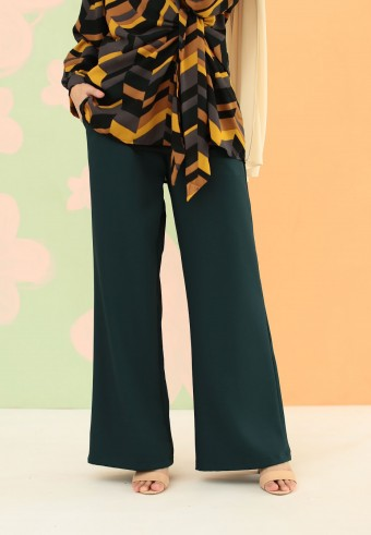 BOOTCUT PANT IN EMERALD GREEN