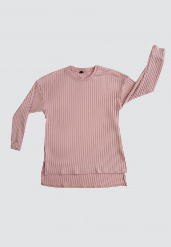 IRONLESS LOOSE TOP IN DUSTY PINK