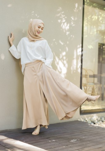 Mori Wide pants in Nude