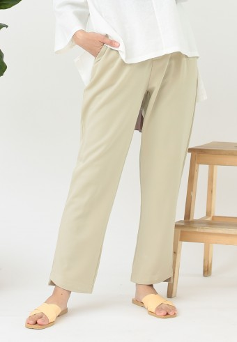 OFFICE TAPERED PANT IN LIGHT BROWN