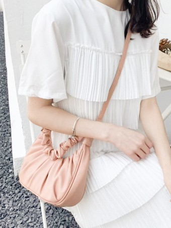 Rania Bucket Bag In Peach