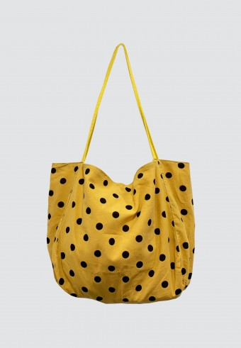 POLKA DOT BAG IN YELLOW
