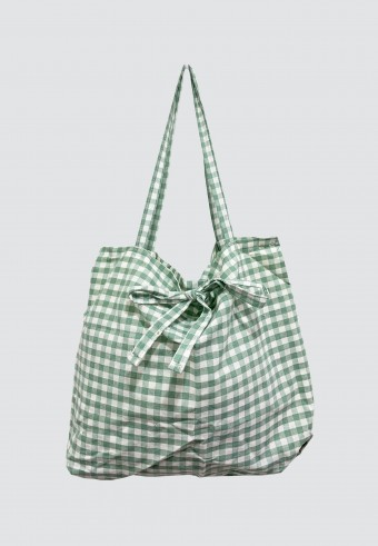 CHECKERED BAG IN GREEN