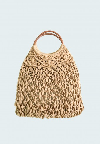 KNITTED HOBO BAG IN BROWN 14