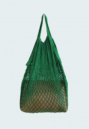 TRENDY NET BAG IN GREEN WITH ENVELOPE BAG 17