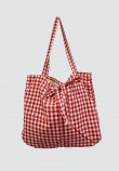 CHECKERED BAG IN RED