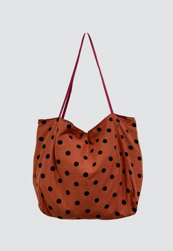POLKA DOT BAG IN BROWN