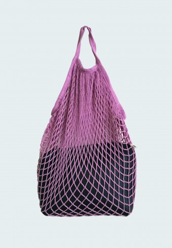 TRENDY NET BAG IN PINK WITH ENVELOPE BAG 5