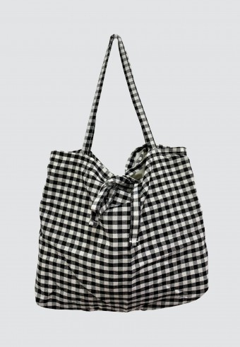 CHECKERED BAG IN BLACK