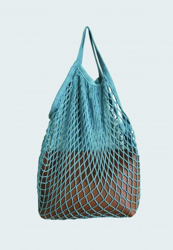 TRENDY NET BAG IN BLUE WITH ENVELOPE BAG 15
