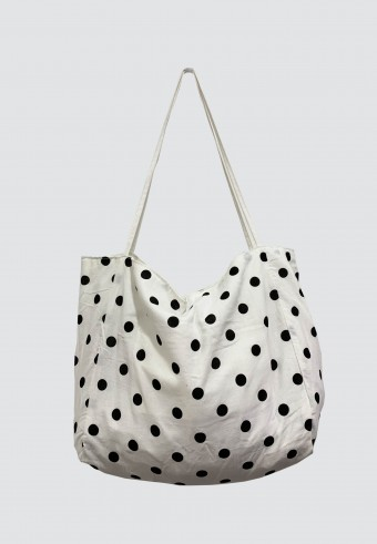 POLKA DOT BAG IN WHITE