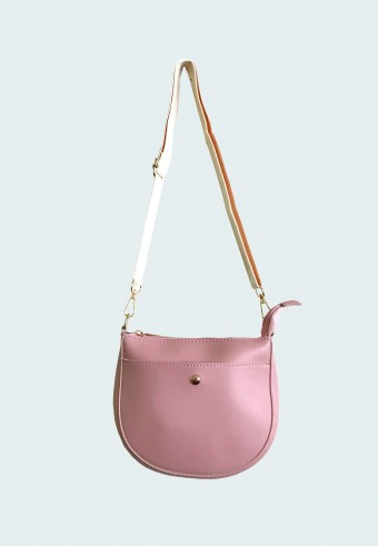 SADDLE LONG STRAP BAG IN PINK