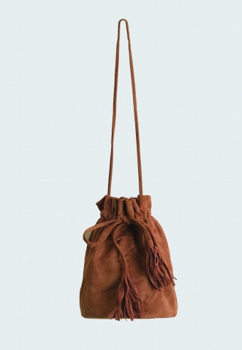 POUCH STRING BAG IN BROWN 14