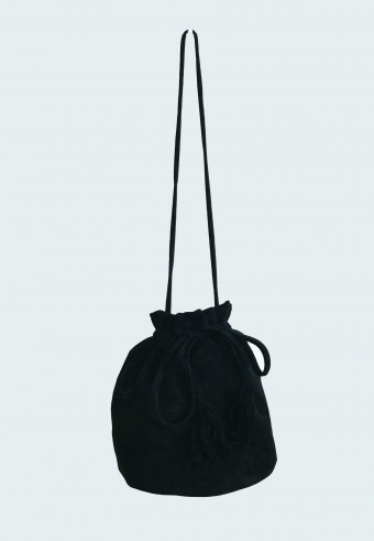 POUCH STRING BAG IN BLACK