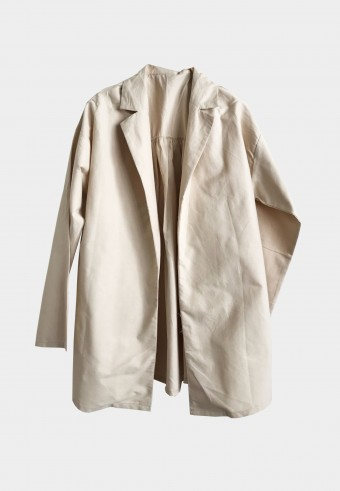 BASIC COTTON OUTERWEAR IN CREAM