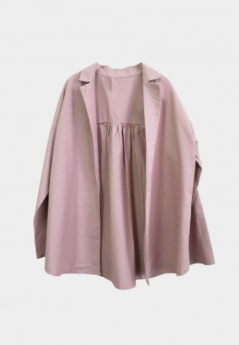 BASIC COTTON OUTERWEAR IN PINK