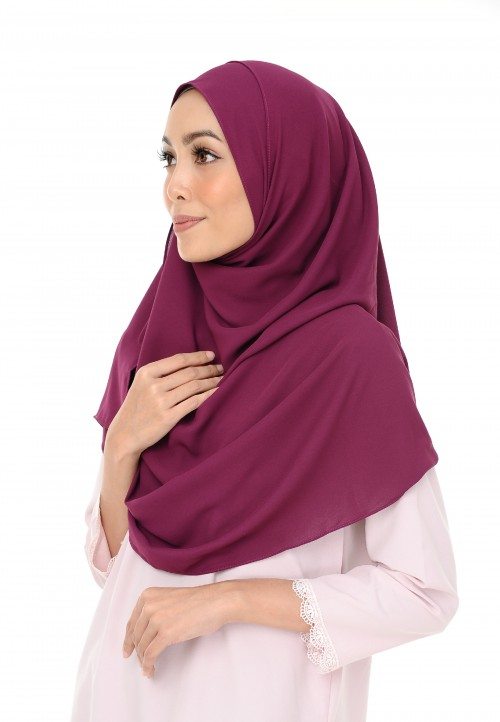 NAYLA DOUBLE INSTANT LOOP IN BERRY PURPLE