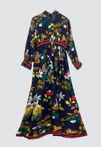 ASSORTED SPRING LONG DRESS IN NAVY BLUE