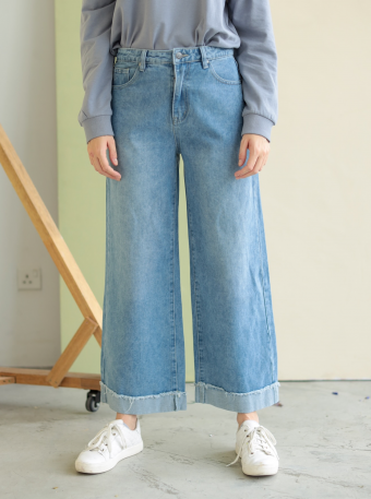 sally jeans in wash blue