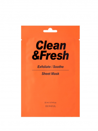 EUNYUL Clean & Fresh Exfoliate / Soothe Sheet Mask ( 1 pcs )