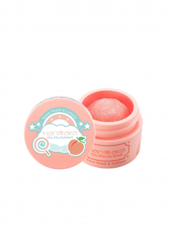 Hanaka Chu Chu Lip Scrub 15ml - Sweet Peach & Lollipop