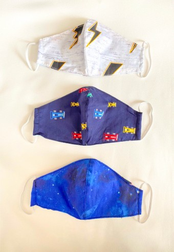 Kids Fabric Cup Mask ( Galaxy ) 3pcs