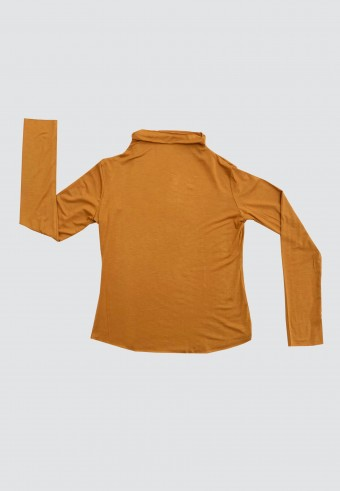 HIGH NECK LONG SLEEVE INNER IN MUSTARD