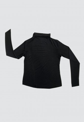 HIGH NECK LONG SLEEVE INNER IN BLACK