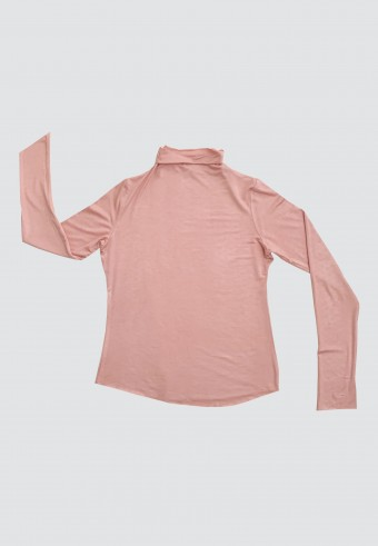 HIGH NECK LONG SLEEVE INNER IN DUSTY PINK