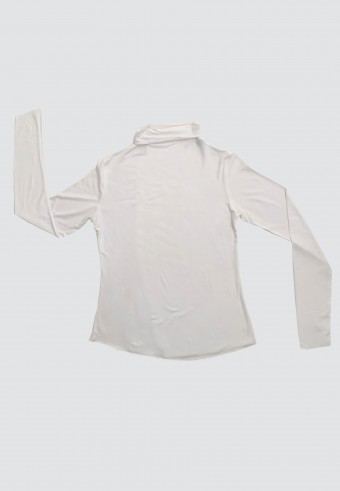 HIGH NECK LONG SLEEVE INNER IN WHITE