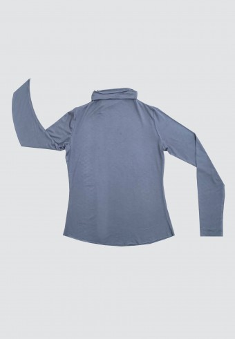 HIGH NECK LONG SLEEVE INNER IN DUSTY BLUE