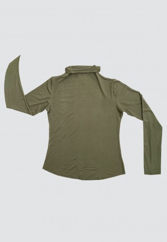 HIGH NECK LONG SLEEVE INNER IN GREEN
