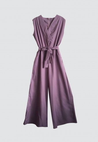 SLEEVELESS JUMPSUIT IN DUSTY PURPLE 63