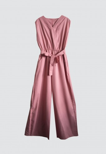 SLEEVELESS JUMPSUIT IN DUSTY PINK 53